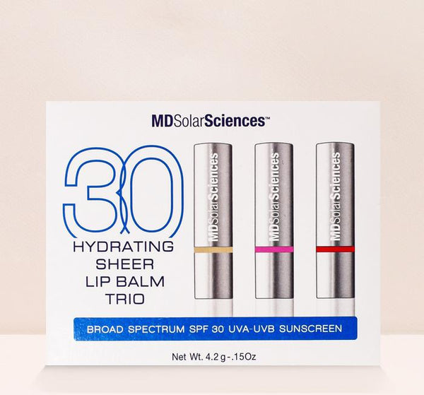 Hydrating Sheer Lip Balm Trio SPF 30 suncare MDSolarSciences™