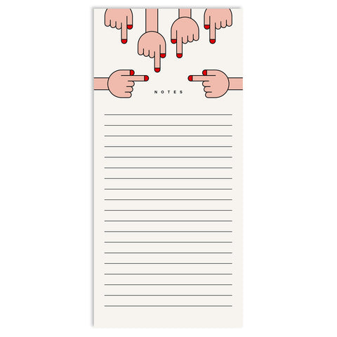 Hands Long Notepad