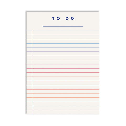 To Do Pad - Rainbow