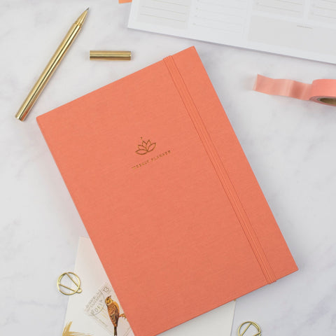 Undated Weekly Planner - Coral