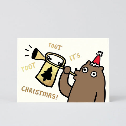 Tooting Christmas Bear