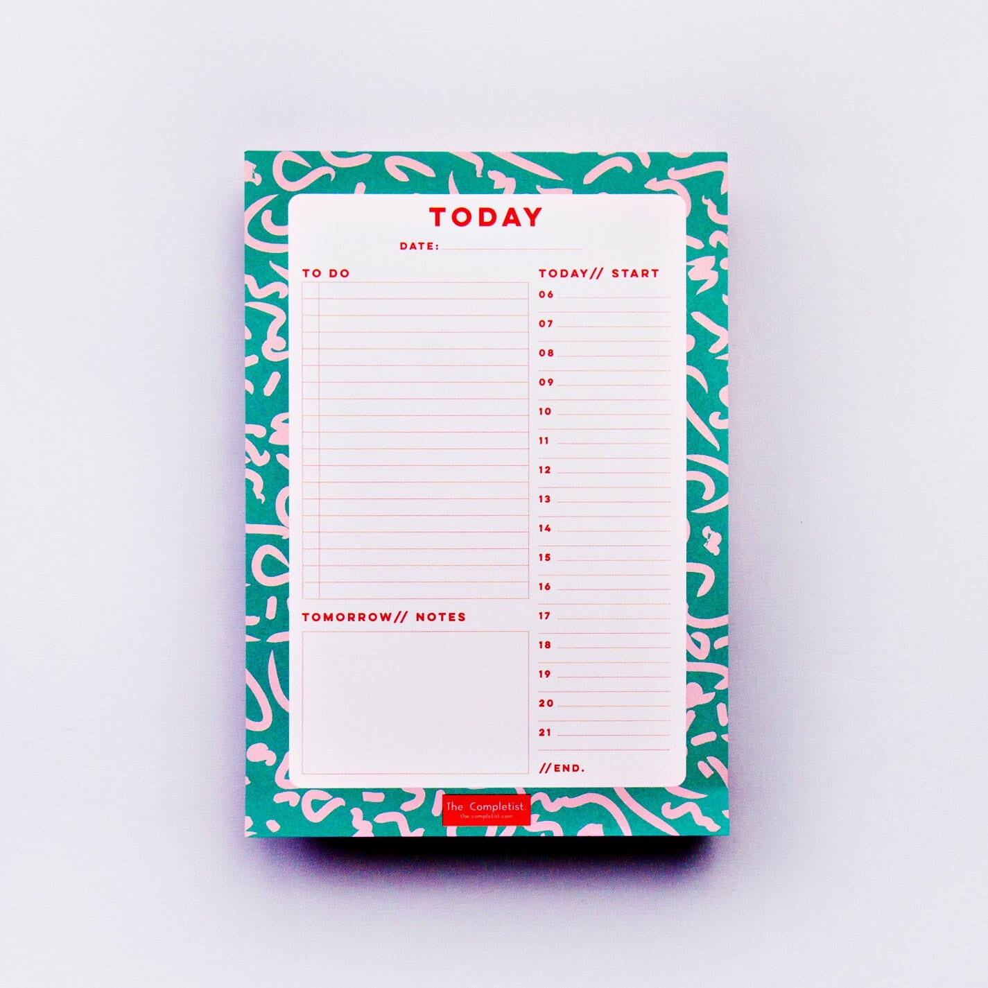 Daily Planner Pad - Green Squiggle