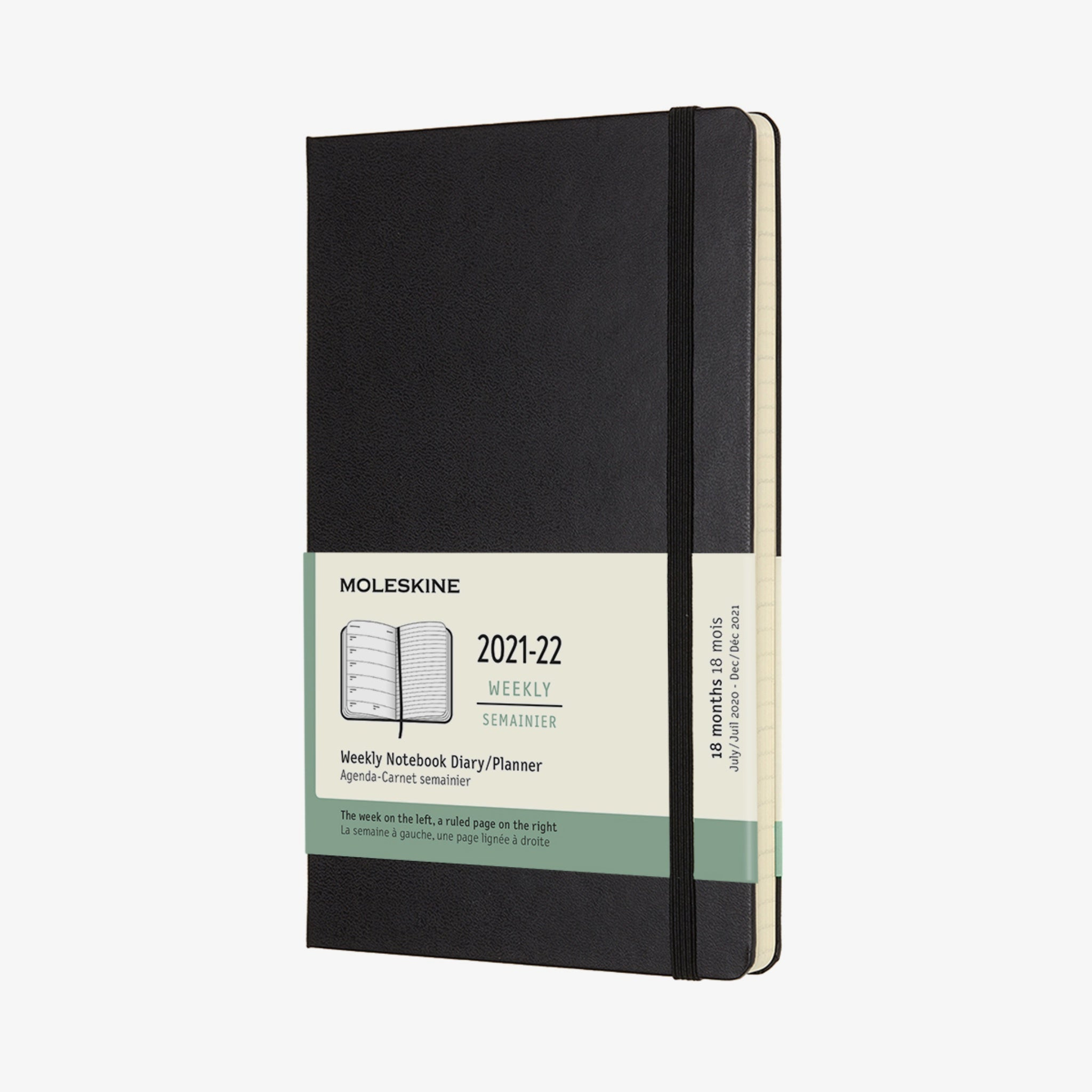 2021/22 Hard Cover Academic  Diary - Black
