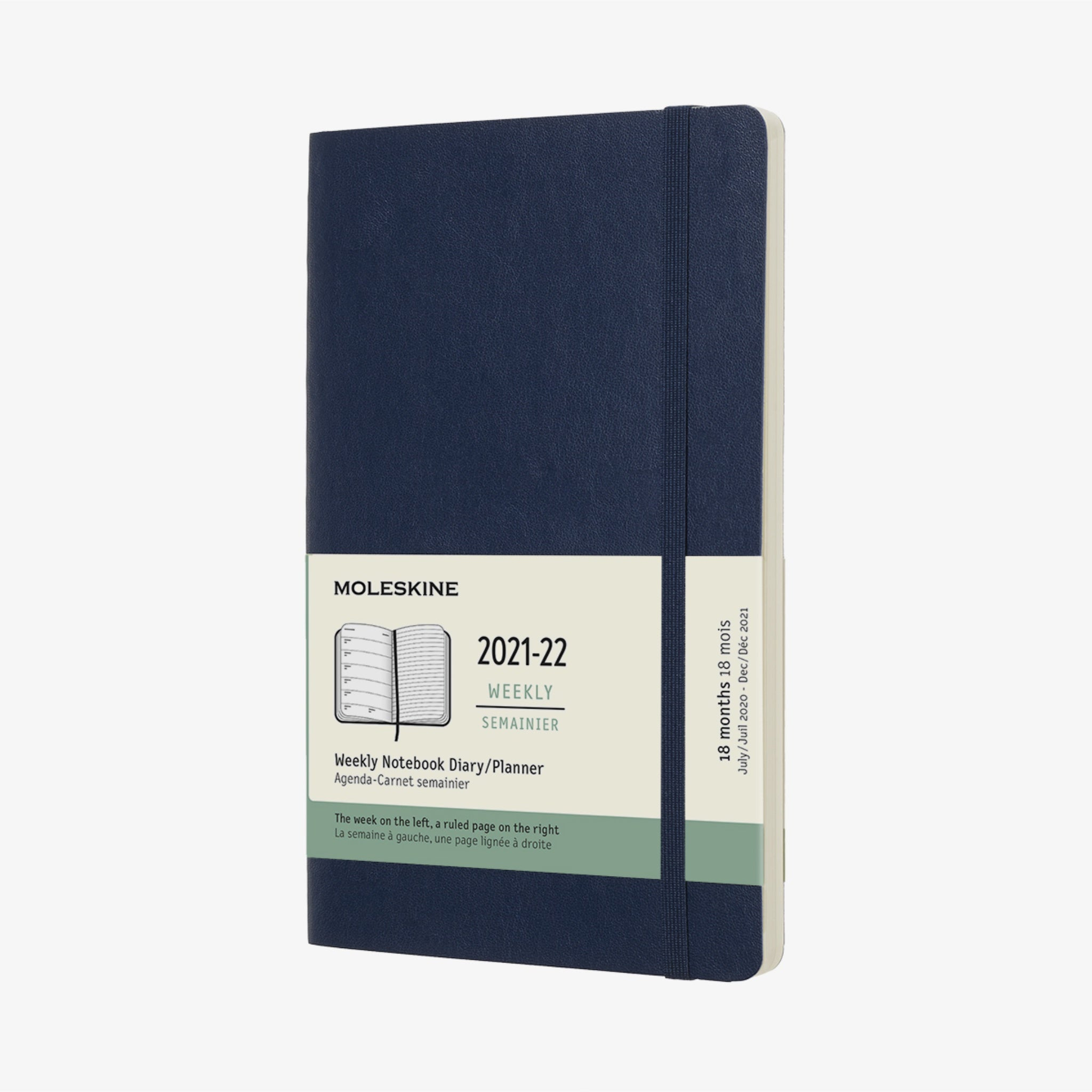 2021/22 Soft Cover Academic Diary - Sapphire Blue