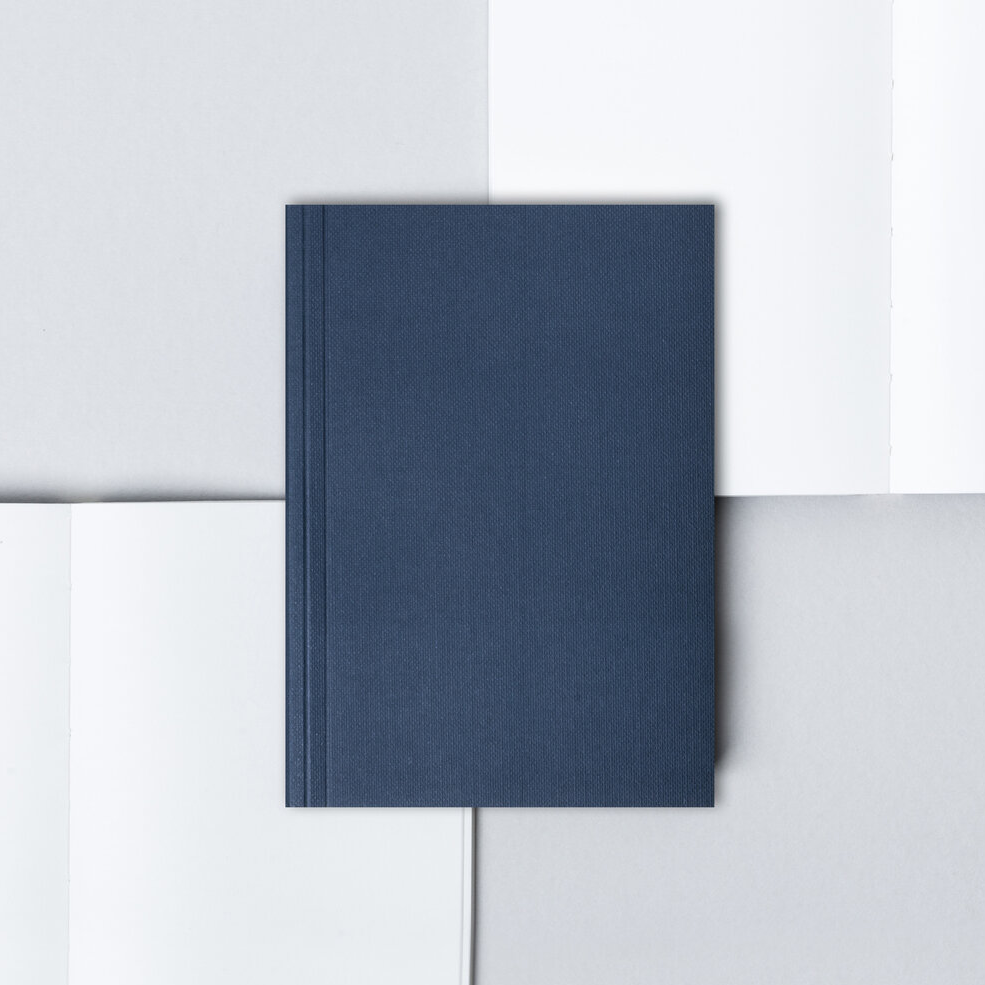 Pocket Layflat Notebook - Navy / Plain