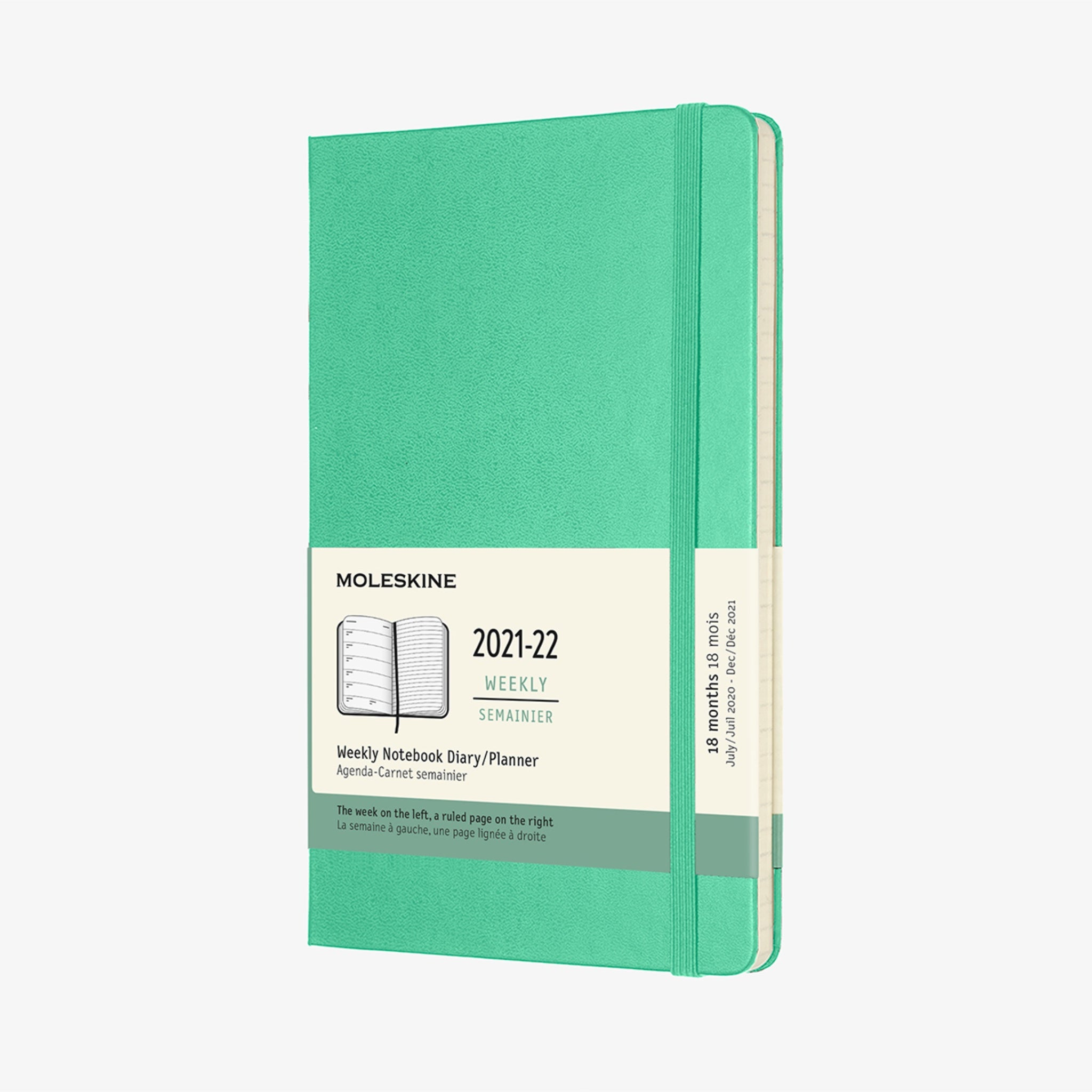 2021/22 Hard Cover Academic Diary - Ice Green