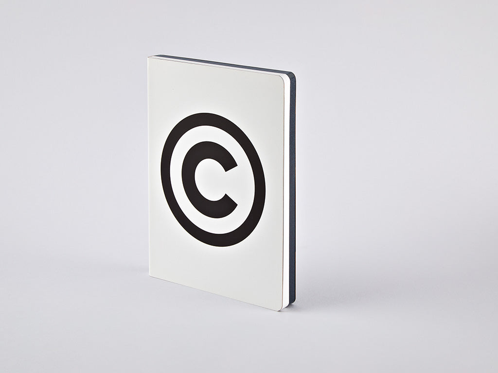 Graphic L Notebook - Copyright
