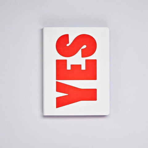 Graphic L Notebook - Yes No