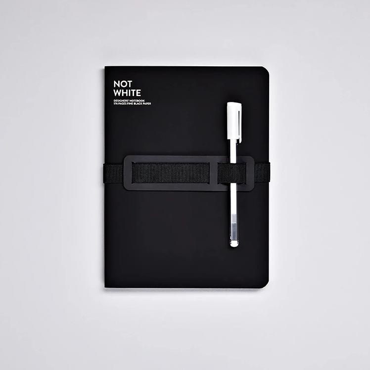 Not White Notebook - Black