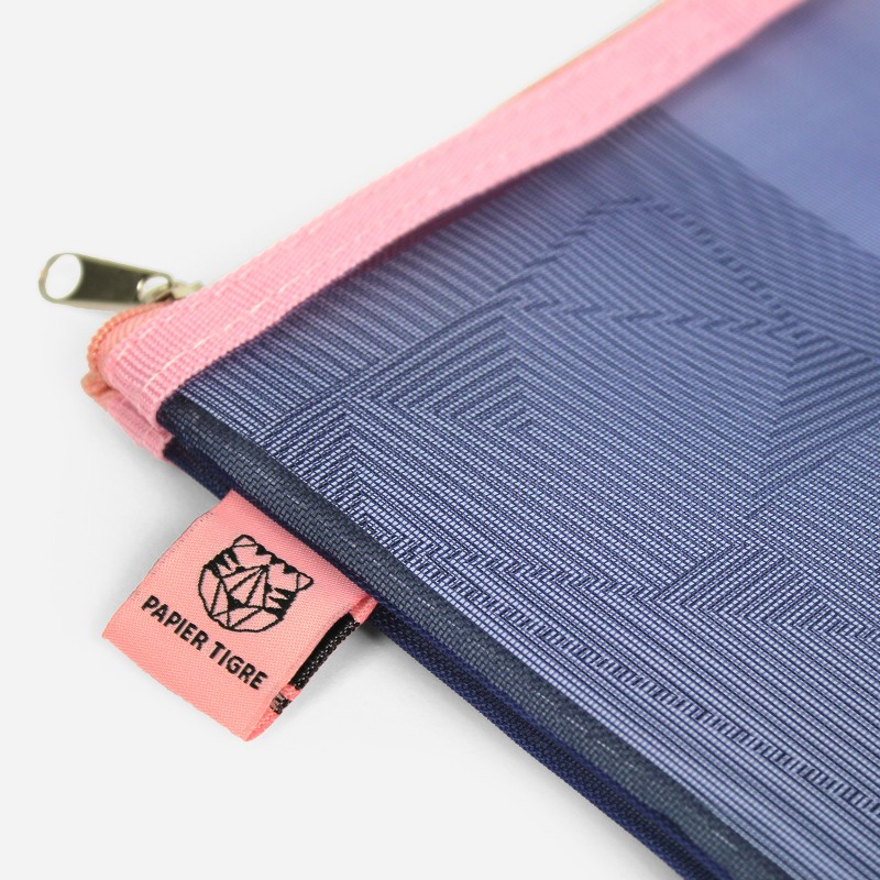 Mesh Pouch Medium - Blue Pink