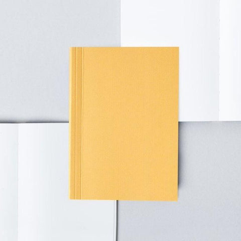 Pocket Layflat Notebook - Mustard and Rust / Dot Grid
