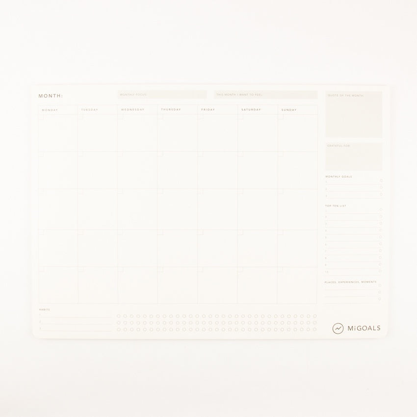 Monthly Desk Pad