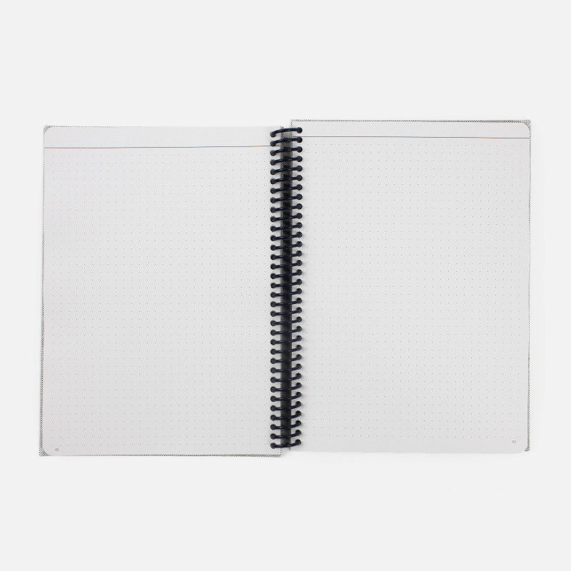 A5 Canvas Notebook - Heather Grey