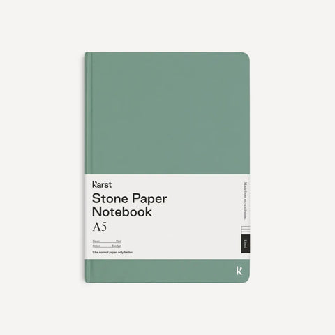 Stone Paper A5 Notebook - Sage