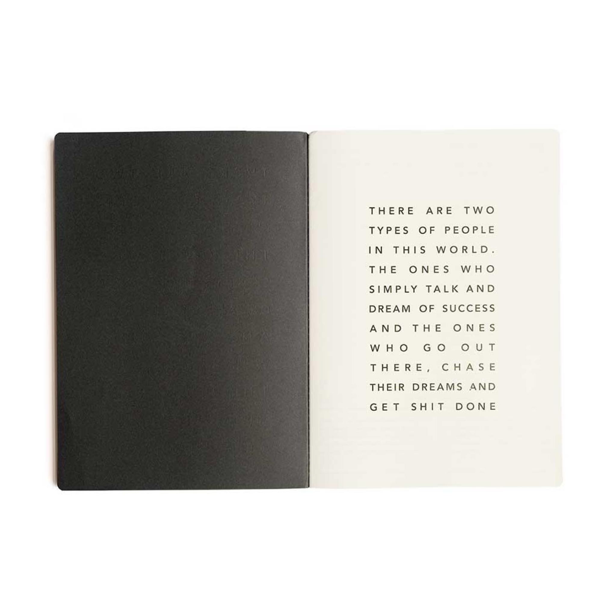 Get Shit Done Manifesto A4 Notebook / Black