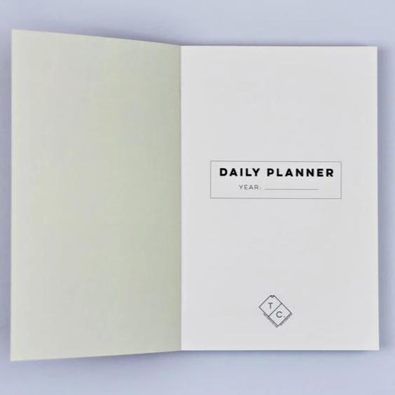 The Daily Planner Undated - Giant Raindrops