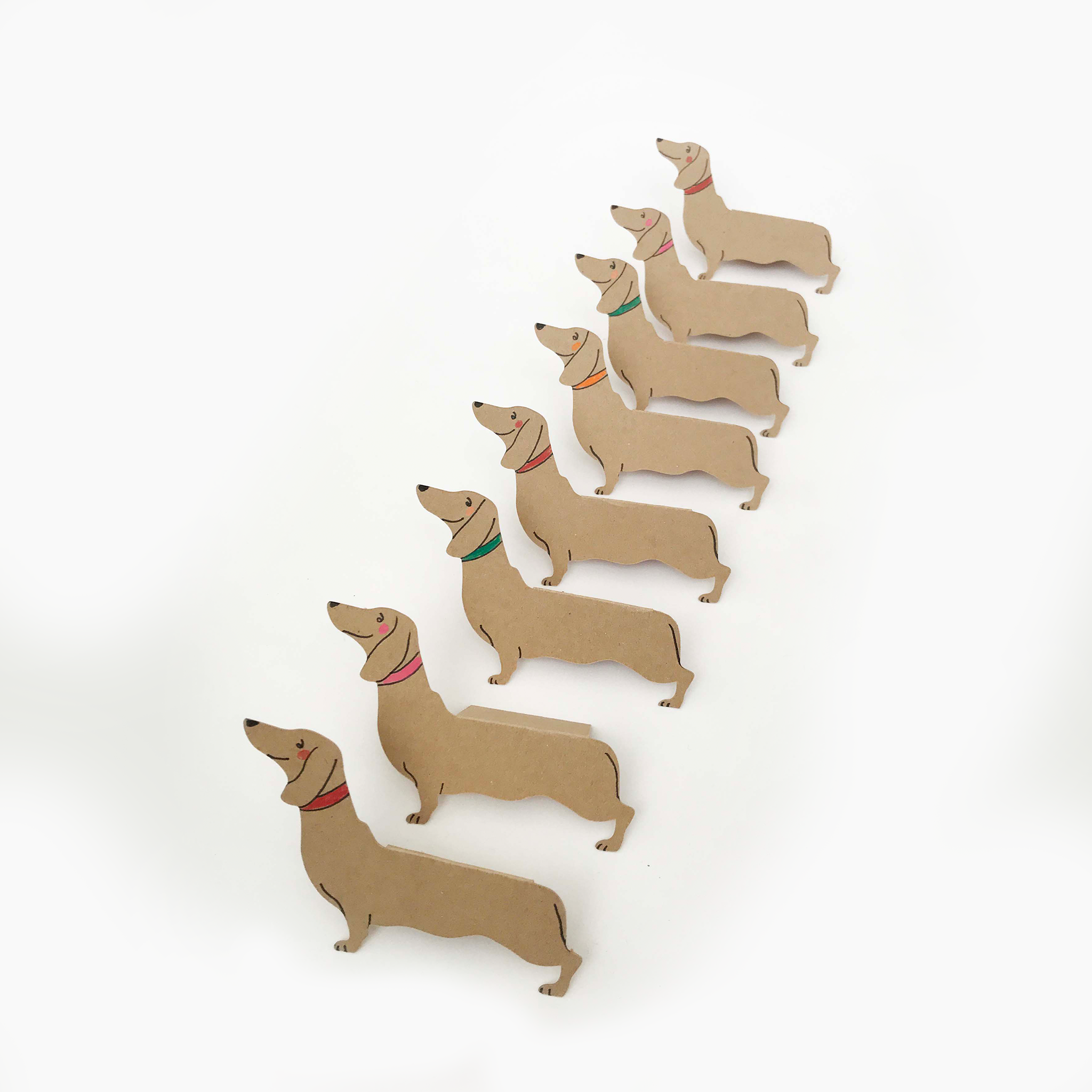 Place Cards - Standing Dachshund