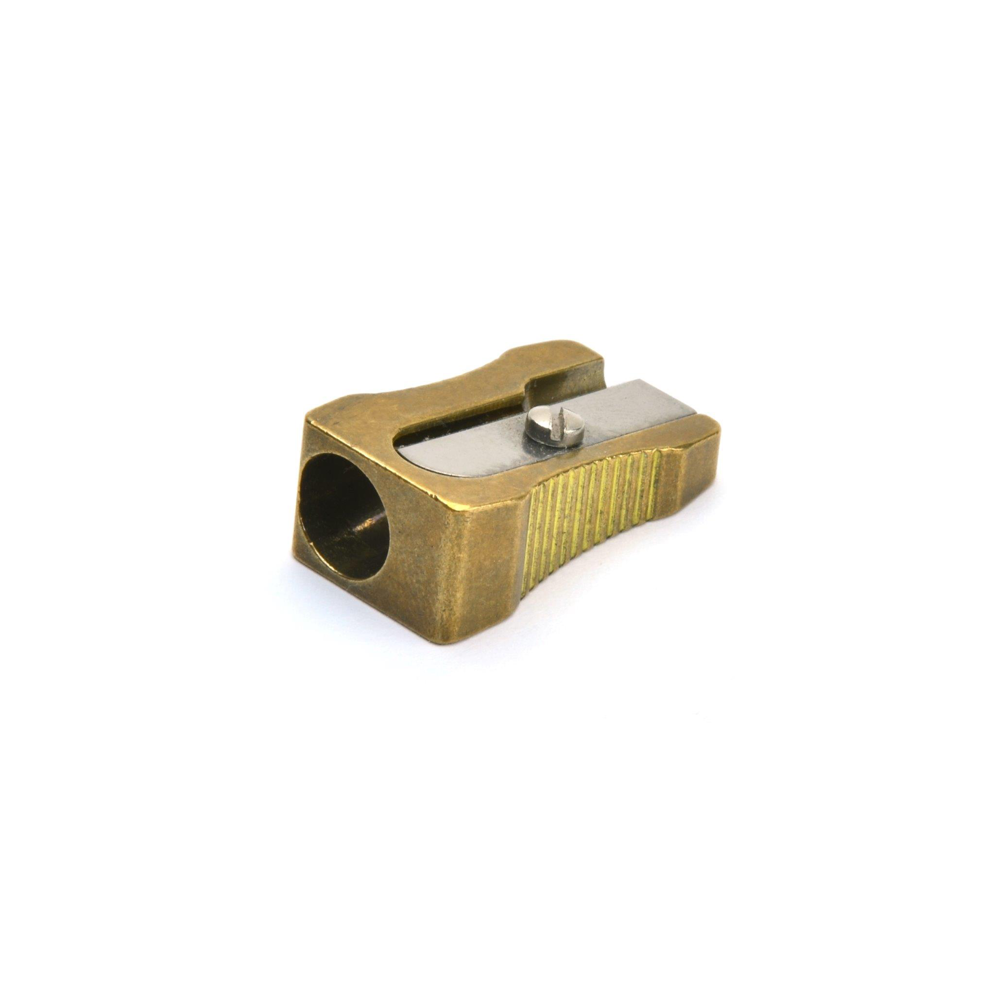 Single Hole Wedge Sharpener - Brass