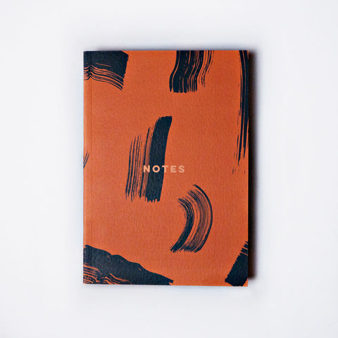 Flat Lay A5 Notebook - Peach Shadow Brush