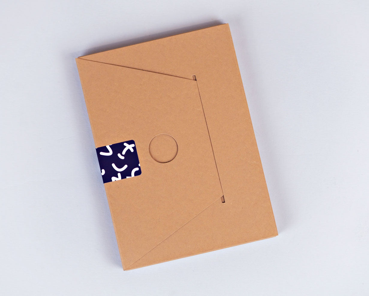 A6 Notebook - Blue Space Squiggle