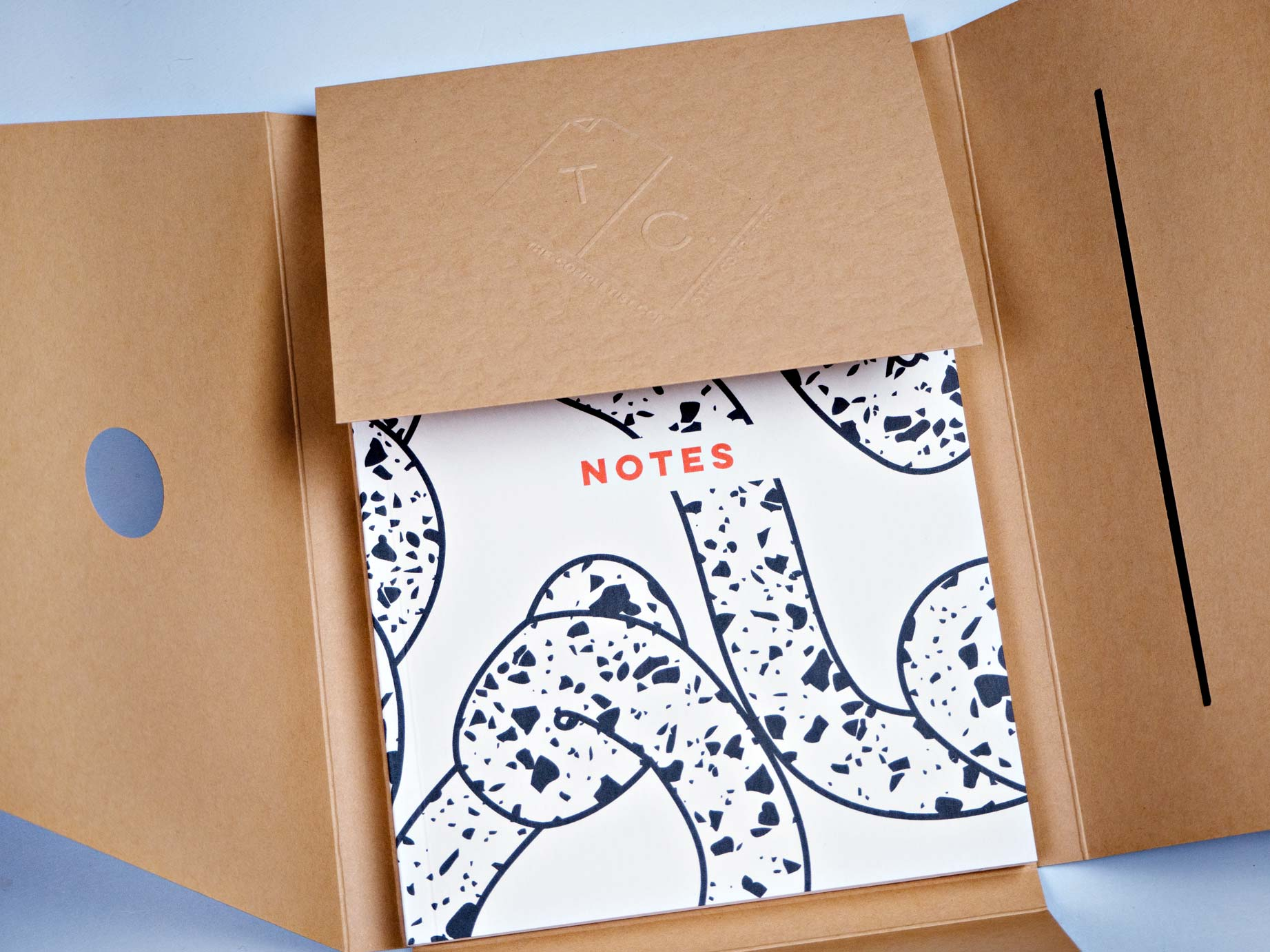 Flat Lay A5 Notebook - Terrazzo Ropes