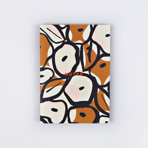 Flat Lay A5 Notebook - Mustard Inky Flowers