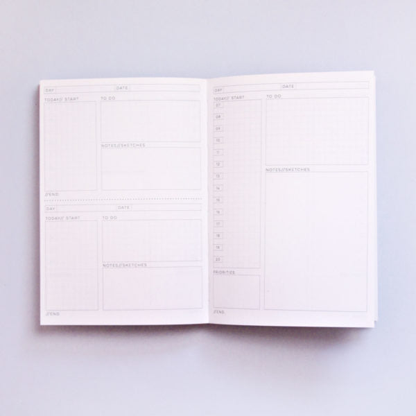 The Daily Planner Undated - Shadow Brush