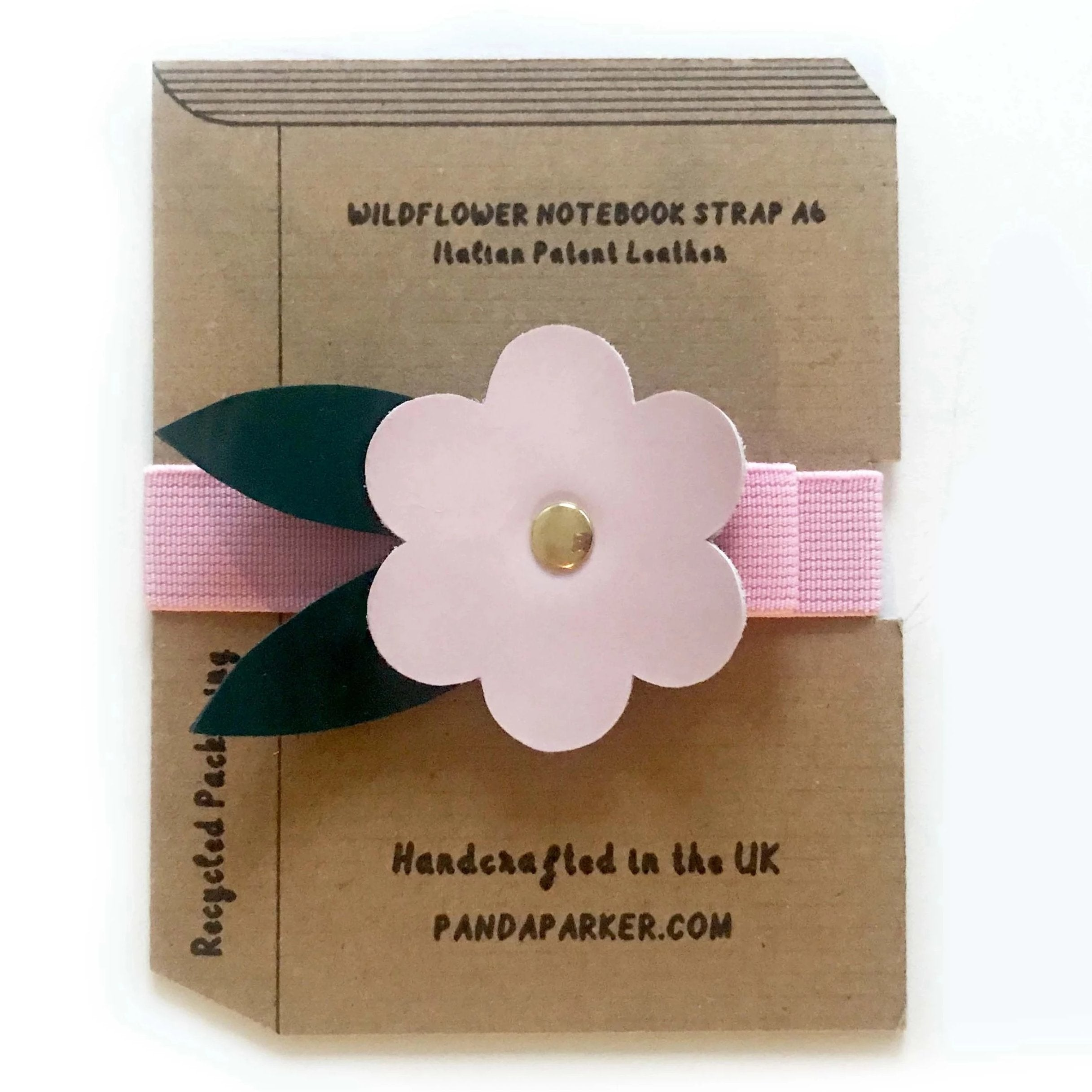 Wildflowers Leather Notebook Strap