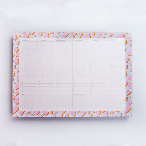 Weekly Planner Pad - Pink Animal