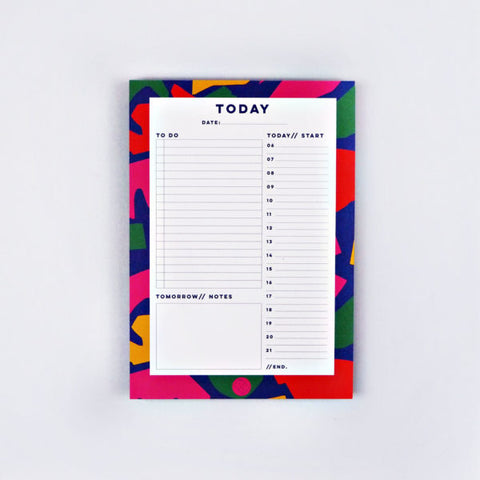 Daily Planner Pad - Cut Out Shapes