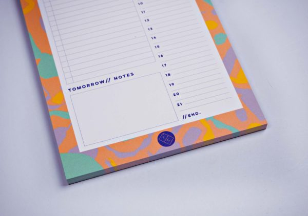 Daily Planner Pad - Pastel Inky