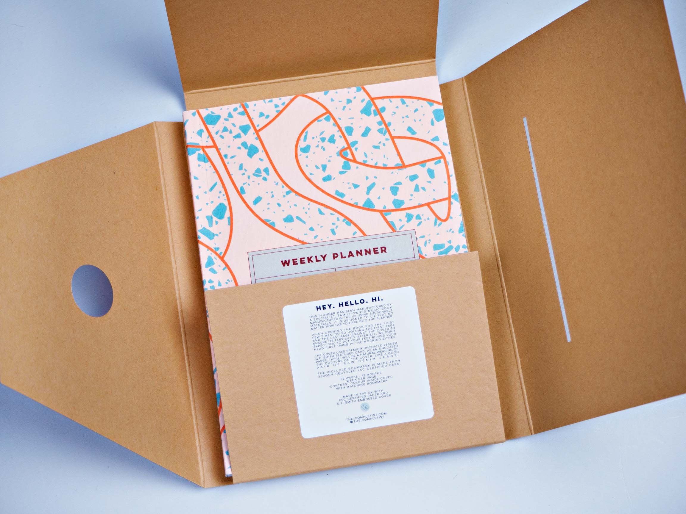 Weekly Pocket Planner - Terrazzo Ropes