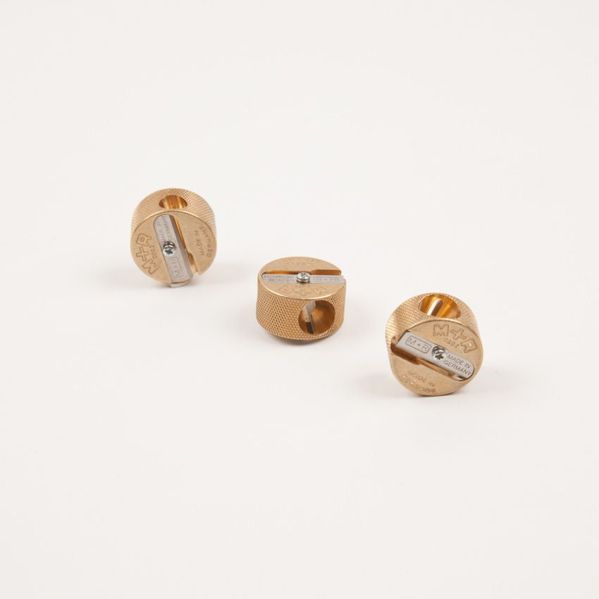 Double Hole Brass Round Sharpener