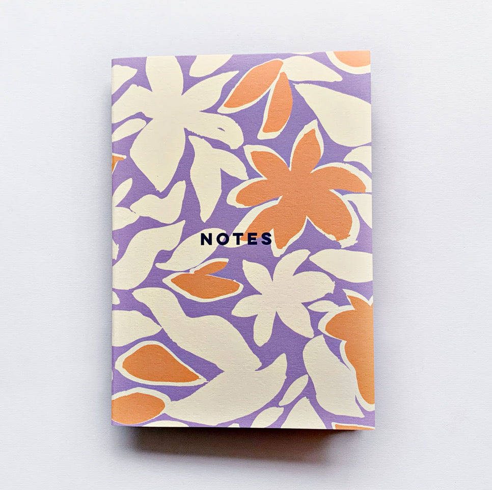 Dot Grid A5 Notebook - Tropical Flowers