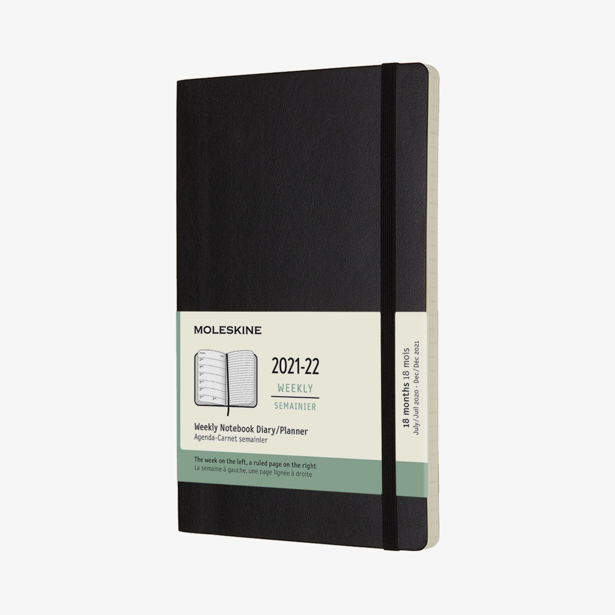 2021/22 Soft Cover Academic Diary - Black