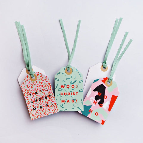 Pastel Christmas Tag Set