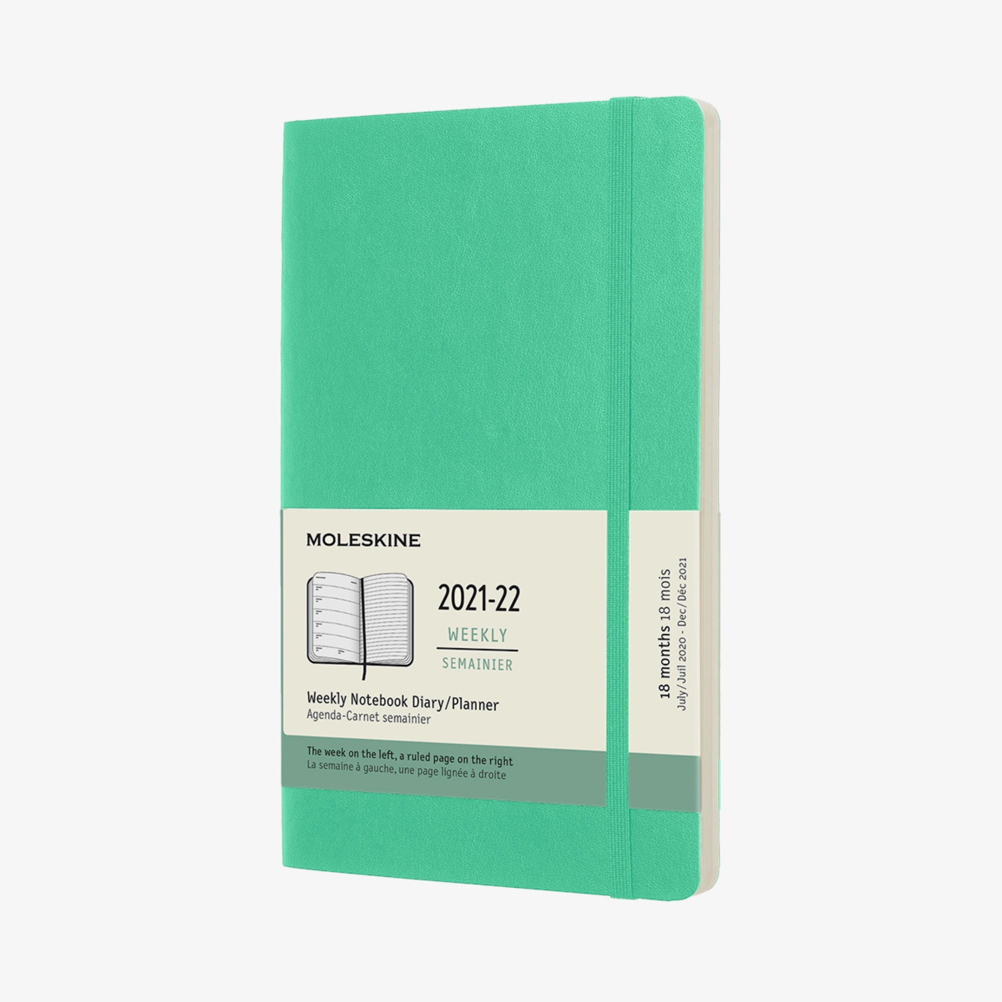 2021/22 Soft Cover Academic Diary - Ice Green