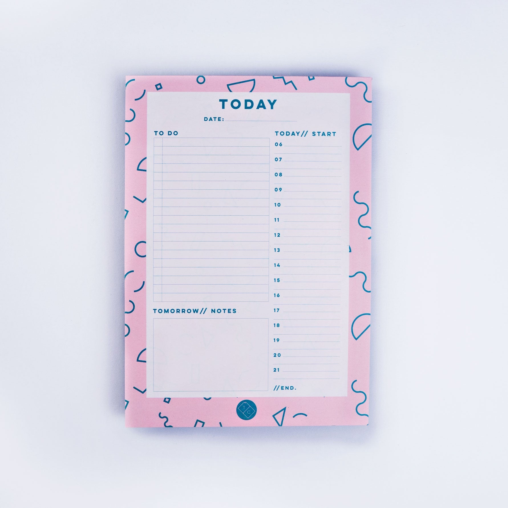 Daily Planner Pad - Pink Memphis