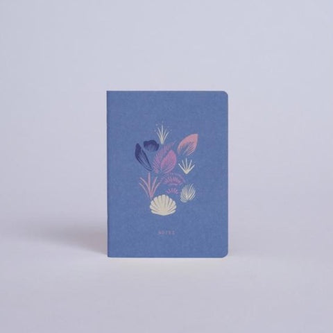Mini Notebook - Coquillage Pervenche