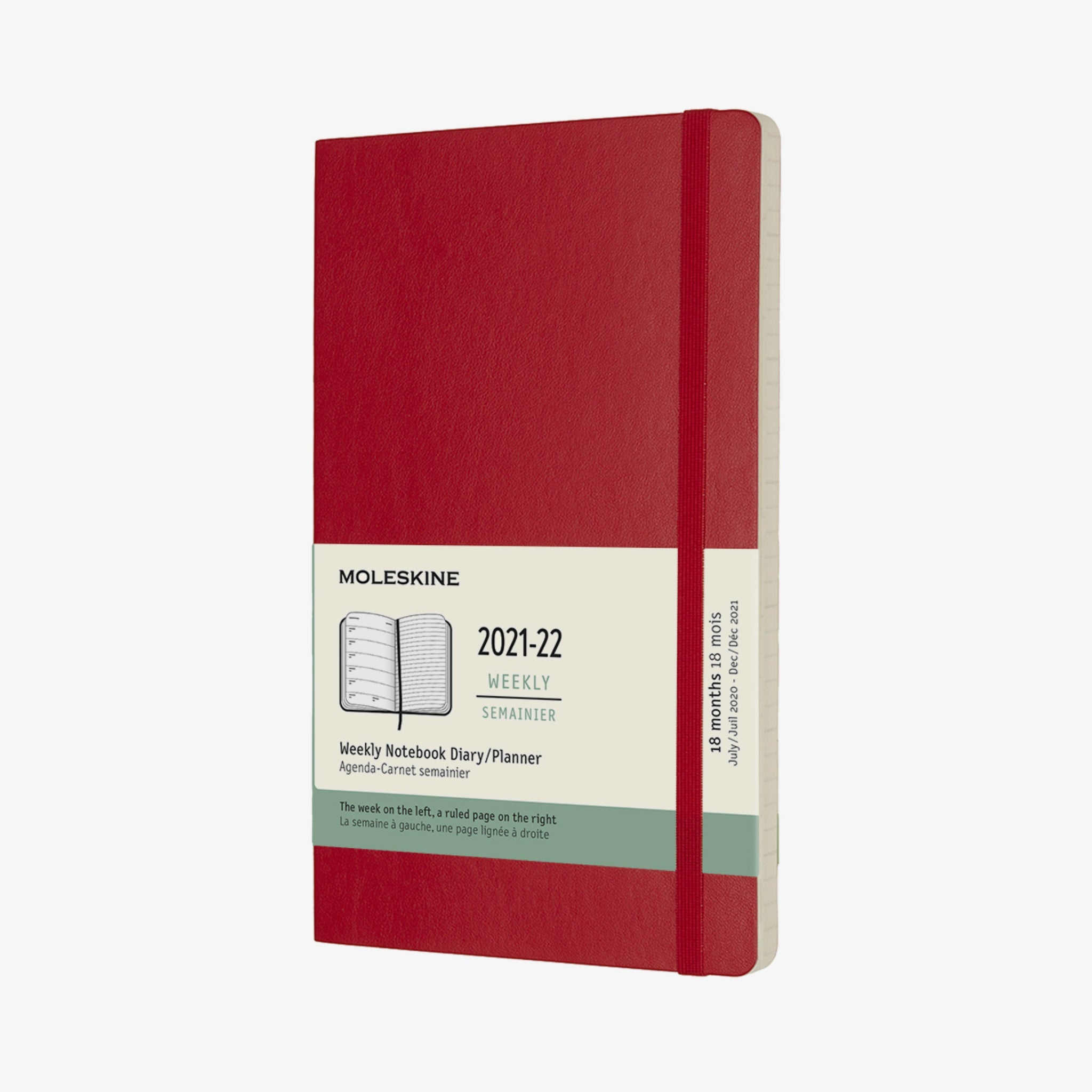 2021/22 Soft Cover Academic Diary - Scarlet Red