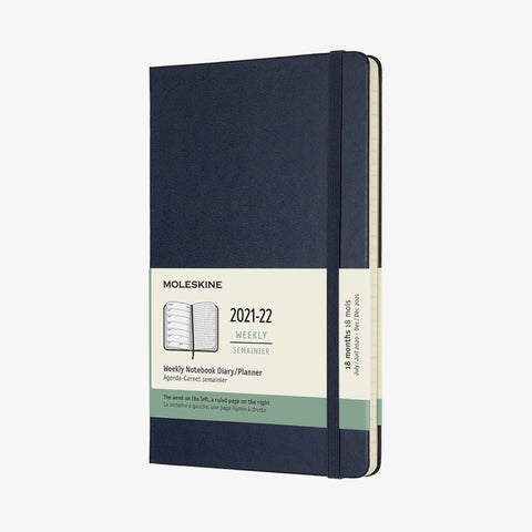 2021/22 Hard Cover Academic Diary - Sapphire Blue