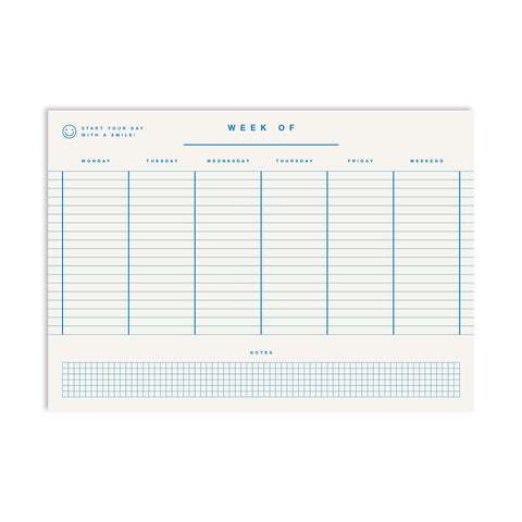 Weekly Planner A4 - Mono Blue
