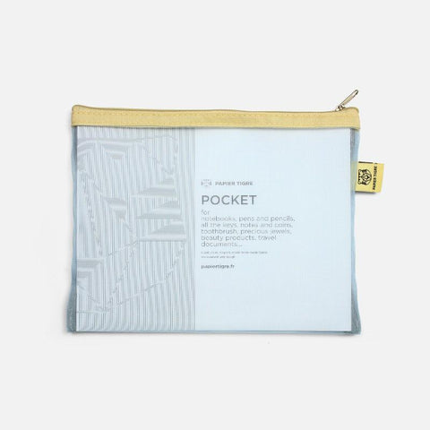 Mesh Pouch Medium - Yellow Blue