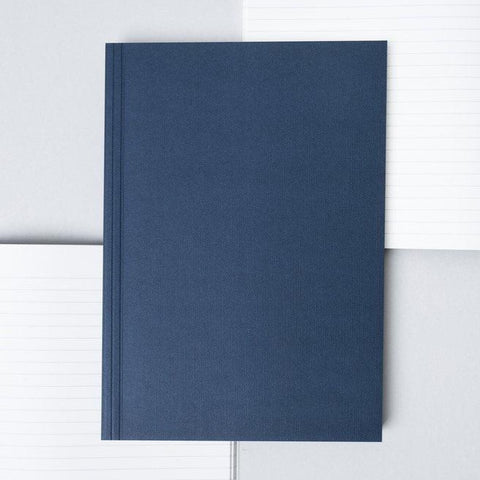 Medium Layflat Notebook - Navy and Rust / Ruled