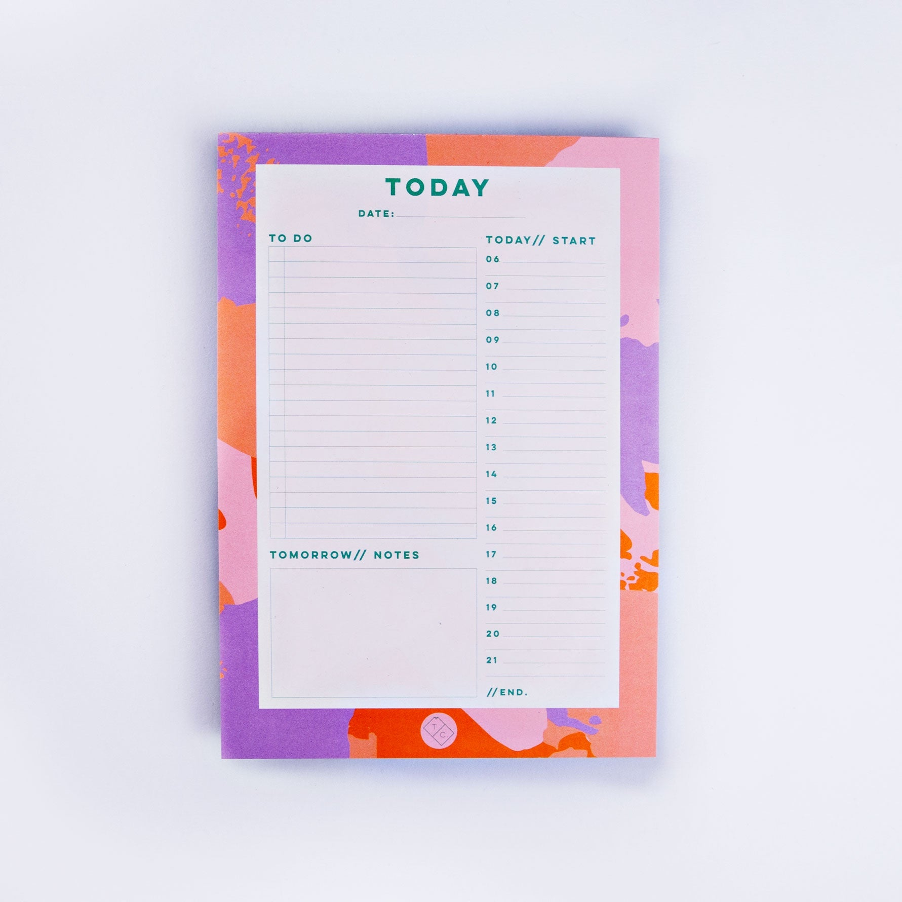 Daily Planner Pad - Palette Knife