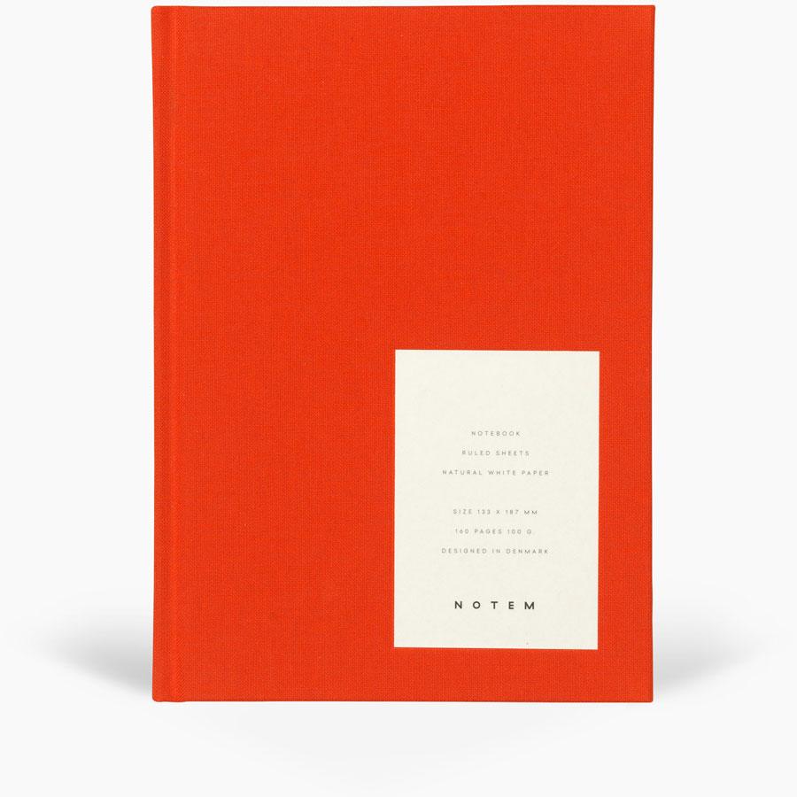 Even Notebook - Medium / Bright Red