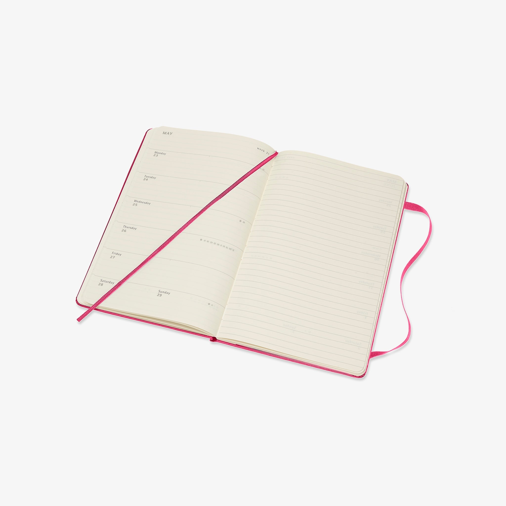 2021/22 Hard Cover Academic Diary - Bougainvillea Pink