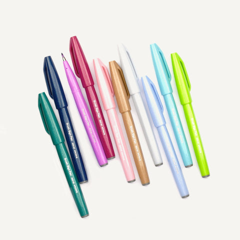 Brush Sign Pen - Set of 10 Pastel