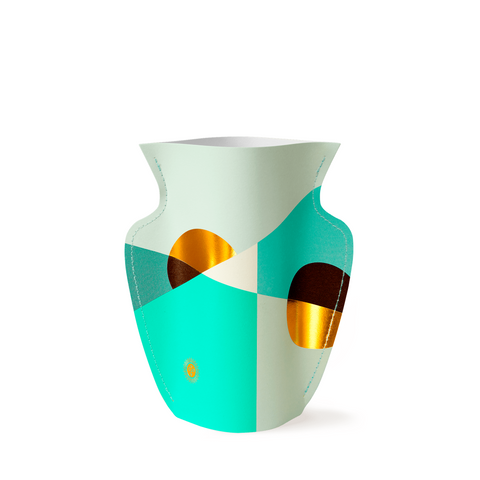 Mini Paper Vase - Siena Mint