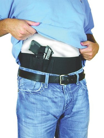 Belly Band with 2 Mag Pouches Black